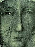 detail of Our Lady of Czestochowa, Poland Mother Of Christ, Mother Mary, Pictures Of Mary, Pictures Images, Religious Images, Religious Art, Our Lady Of Czestochowa, Blessed Virgin Mary, Dark Art
