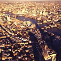 #London sunrise #shard shadow #capital #city #thames #photography #helicopter