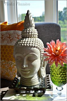 Buddha Décor, Flowers décor, Indian décor, global decor
