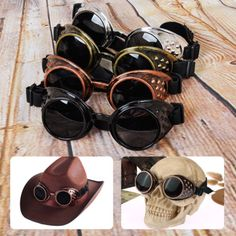 #Vintage victorian steampunk cyber goggles #glasses welding punk #gothic cosplay,  View more on the LINK: http://www.zeppy.io/product/gb/2/252223936684/