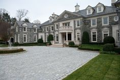 Estates at Alpine, Stone Mega Mansion, Alpine Stone Home, NJ Stone Mansions - Legacy Stoneworks Portfolio