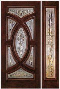 Glass pane fitted front door in fiber glass A252 JELD-WEN