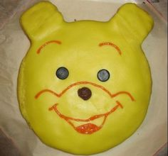 Nalle Puh- täytekakku. Lastenjuhlat kruunaavan kakun loihti Kotikokki.netin nimimerkki Cicialex