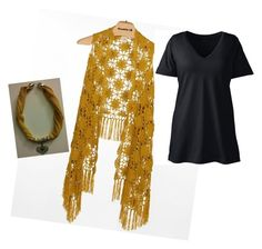 Orange plus size by codrinabazu on Polyvore featuring polyvore fashion style Lands' End Daytrip clothing