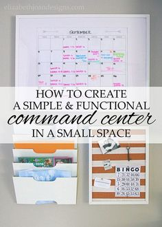 Limited on space? Create your own family command center in a small area!