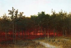 John Frederick Kensett, Twilight in the Cedars at Darien, Connecticut, 1872
