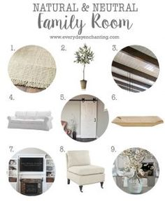 Natural and Neutral Family Room Inspiration | NinaHendrick.com