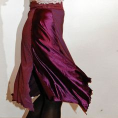 red stretchy lace tango skirt by PamelaCreazioni, €50.00