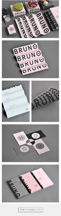Bruno French Pastry Branding - Mindsparkle Mag... - a grouped images picture - Pin Them All