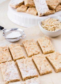 Chewy Almond Marzipan Bars