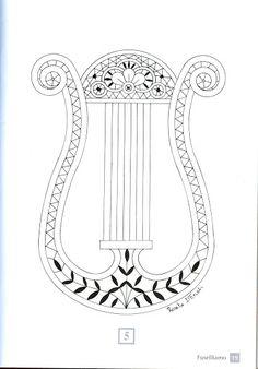 FUSELLIAMO – Lourdes Alvarez – Webová alba Picasa Crochet Music, Bobbin Lace Patterns, Lacemaking, Instruments, Irish Crochet, String Art, Coloring Books, Tatting, Techno