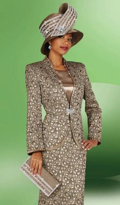 2014 first lady women's church suits | Ladies Church Suits BenMarc International 3pc Print Suit 4437 image