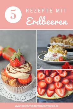 Eine Sammlung meiner liebsten Erdbeerrezepte. Erdbeercupcakes. Erdbeerbaisertorte auch Himmelstorte genannt. Low Carb Erdbeerkäsekuchen. Such dir das beste Erdbeerkuchen Rezept einfach aus. Mehr dazu auf dem Blog.