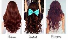 Reddish brown hair colors