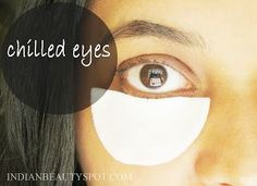 DIY Face Masks  : Iced cotton pads for dark circles and puffy eyes....  https://diypick.com/beauty/diy-masks/diy-face-masks-iced-cotton-pads-for-dark-circles-and-puffy-eyes/