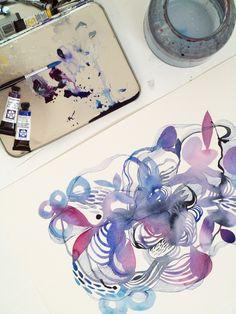 Watercolour and pen from artist Helen Wells