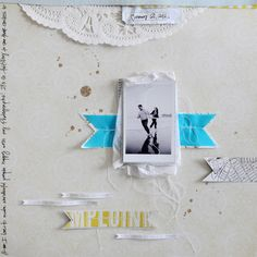 Lovely layout created using products from the Story Teller Collection #cratepaper