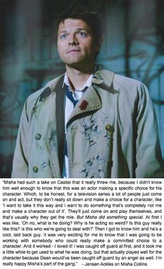 Jensen quote about Misha Collins