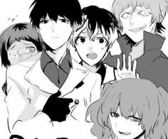 Tokyo Ghoul Quinx Squad ||| Mutsuki, Urie, Sasaki, Shirazu, and Saiko ||| Tokyo Ghoul Fan Art