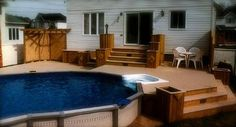 above ground swimming pool deck - Bing Images