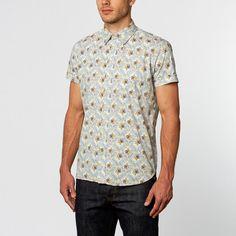 Bouquet Short-Sleeve Shirt // Blue (S)