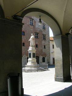 Prato, Tuscany, Italy - Statue of Datini