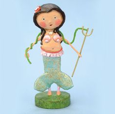 Lori Mitchell figurines for Halloween, Christmas, Valentine's & everyday. Cute figures with wire legs. Shop our huge collection of Lori Mitchell figurines now! Arts And Crafts For Teens, Arts And Crafts House, Arts And Crafts Supplies, Diy Crafts To Sell, Diy Crafts For Kids, Fun Crafts, Craft Ideas, Seashell Bikinis, Mermaid Crafts