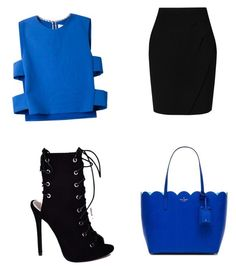 """#like #follow #fashion # black #blue"" by ashola18 ❤ liked on Polyvore featuring Novis, L.K.Bennett and Kate Spade"