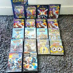 All my italian DVD of Pokémon movies