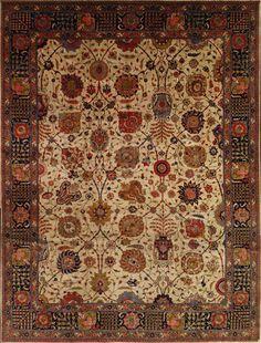 Tabriz Rug – Circa: 1920 Sizes: 10.10X14.2