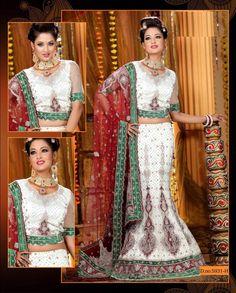 Lehenga Indian Wedding Choli Bollywood Sari Bridal Net Georgette Wedding Dress  #Handmade #Lehenga