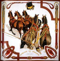 Hermes horses scarf