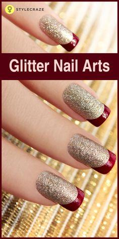 431 Best Glitter Nails Images On Pinterest