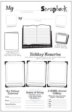 "Freebie: My Holiday Scrapbook ~ practice writing skills and ""Celebrate Holidays Around the World"""