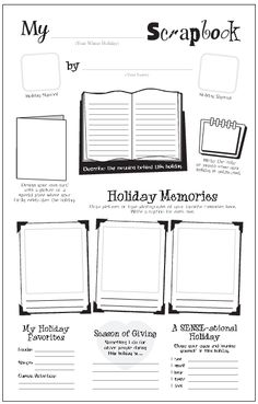 "Freebie: My Holiday Scrapbook ~ practice writing skills and ""Celebrate Holidays Around the World"""