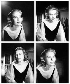 """Grace Kelly en el rodaje de """"La ventana indiscreta"""" (Rear Window), 1954"""