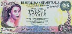 """Experimental Australian currency in """"royals"""" -- never actually used Money Notes, Math Anchor Charts, Show Me The Money, Training Day, World Coins, State Map, People Of The World, How To Look Pretty, The Twenties"""