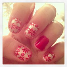 """My """"ugly Christmas sweater"""" nails"""