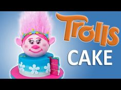How to Make a Trolls Cake with Edible Hair from Cookies Cupcakes and Cardio - YouTube