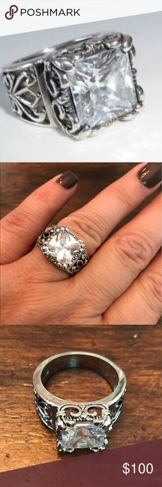 Silpada Uptown ring. Size 10 Retired amazing statement ring! Uptown ring by Silpada! Cubic zirconia and sterling silver. Size 10 Silpada Jewelry Rings