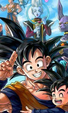 Goku, Gohan, Whis, and Beerus from the Dragon Ball Super anime Dragon Ball Z, Thanos Avengers, Manga Anime, Anime Art, Manga Dragon, Super Anime, Image Manga, Son Goku, Anime Comics
