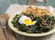 Mann's Braised Kalettes™ with Shallots & Pancetta