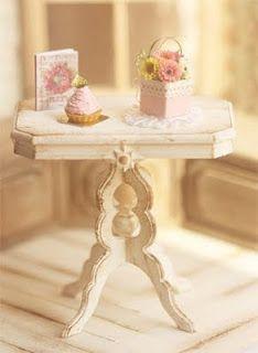 shabby miniature table