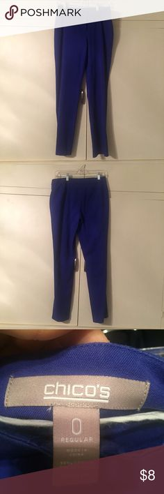 Chico's cobalt pants Sz 0 regular, see Chico's site for more fit info regarding sizing Chico's Pants Straight Leg