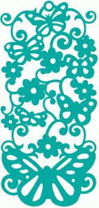 Silhouette Online Store: butterfly flourish bookmark