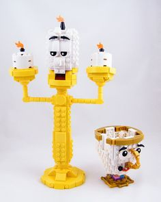 Lego (^o^) Kiddo (^o^) Lumière and Chip Lego Winter, Lego Tv, All Lego, Lego Knights, Lego Display, Lego Videos, Lego Pictures, Lego Club, Lego Craft