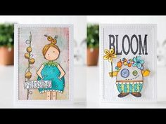 Mini Cards with Paper Artsy Stamps - YouTube