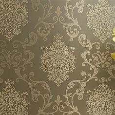 Bedroom Decorative Wallpaper Design Non-woven Damask  European Vintage Luxury Damask Wallpaper Wall Covering Beige,Blue,Purple