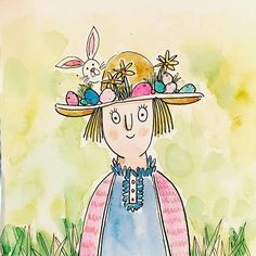 It's the Easter fete, and Margo Montgomery has one first prize again for her Easter bonnet. The year she has won, and the ladies in… Cute Illustration, Character Illustration, First Prize, Character Design, Sketches, Princess Zelda, Watercolor, Fictional Characters, Instagram