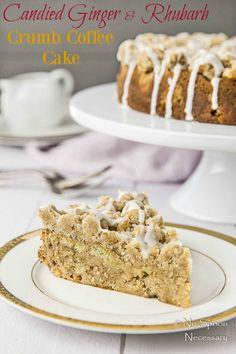 Rhubarb & Candied Ginger Crumb Coffee Cake- short pin7